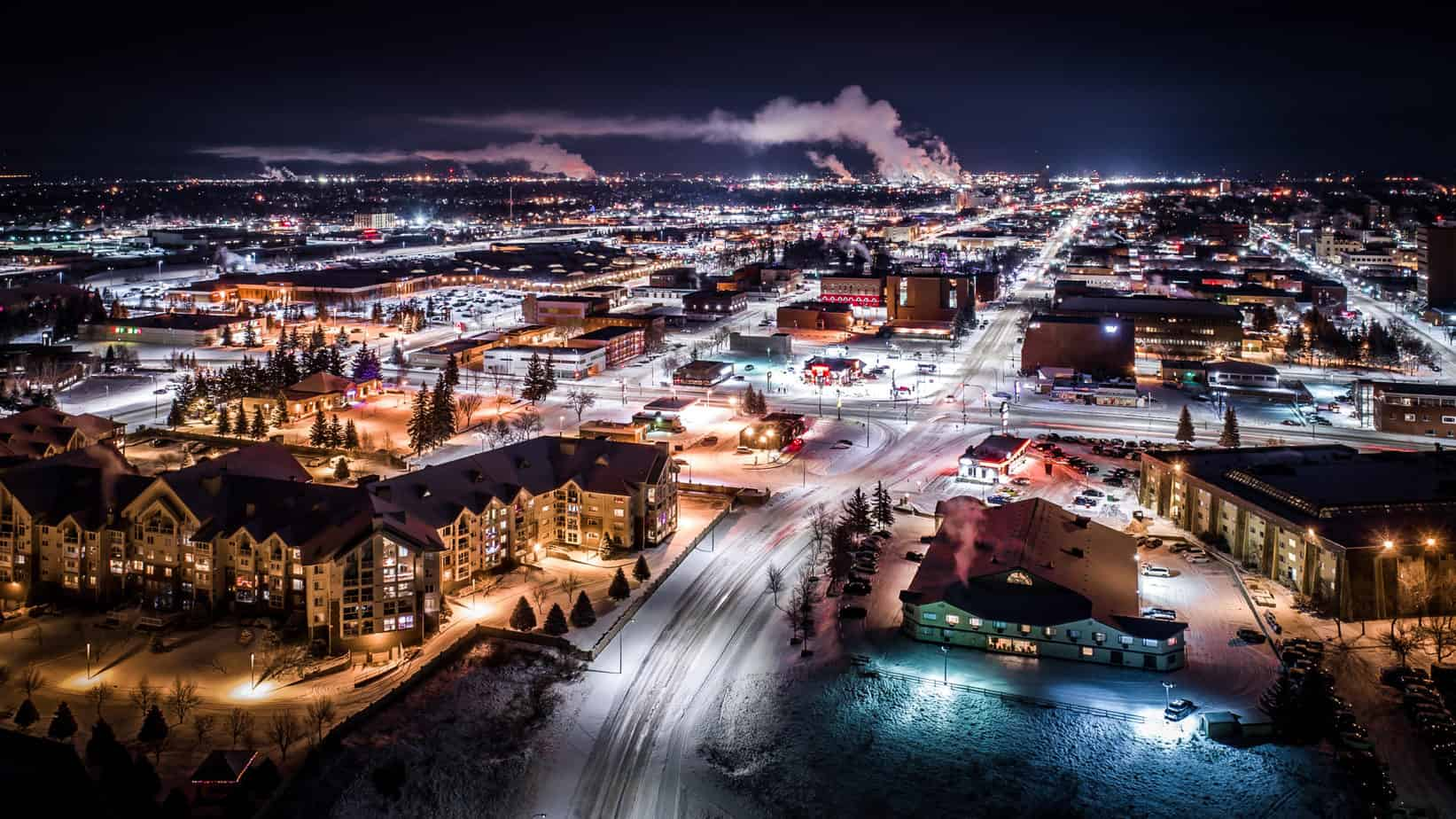 """A Cold Winter's Night"" photo that won runner-up in Canadian Geographic Urban Photography Category."