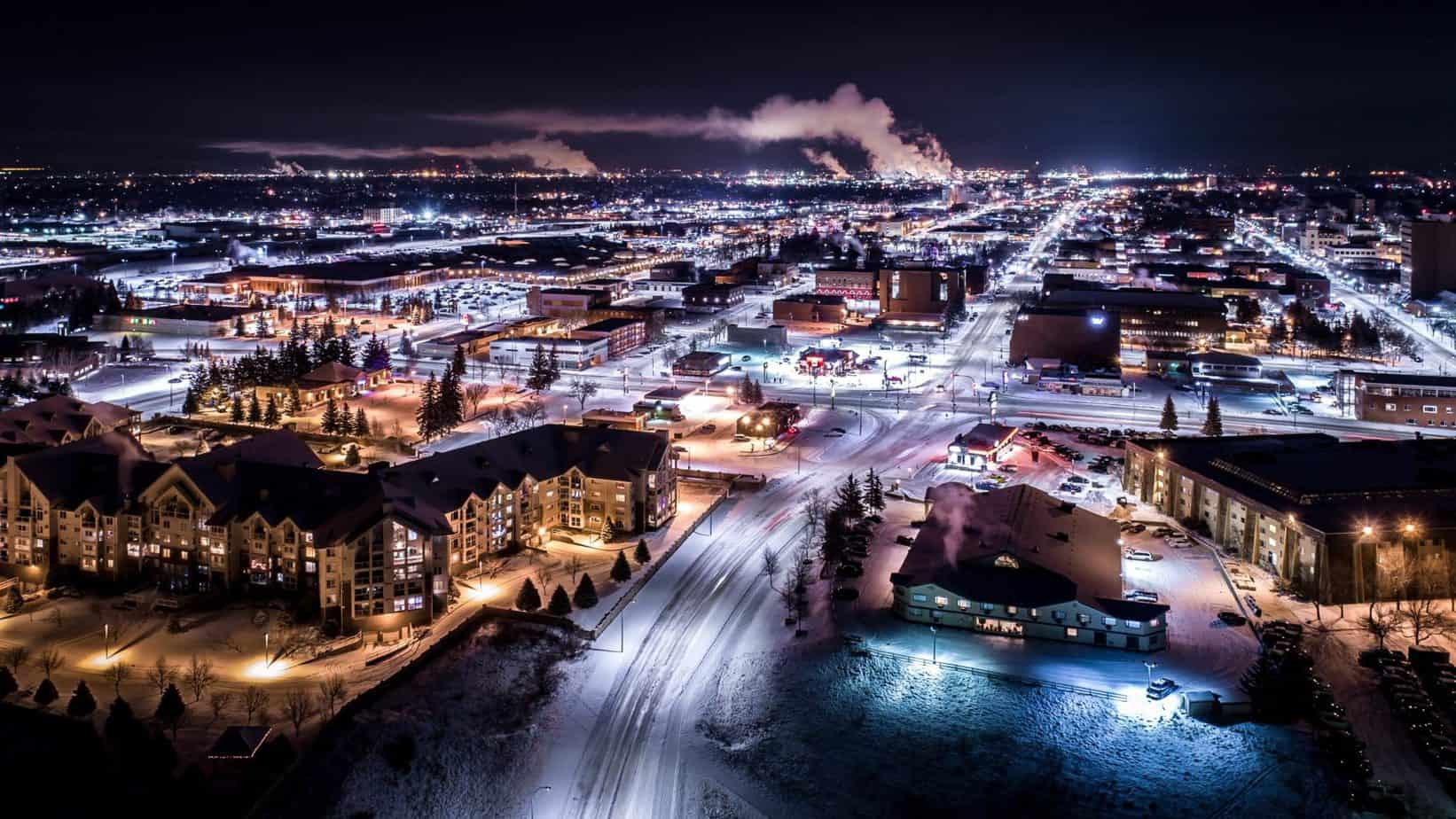 Lethbridge by Night