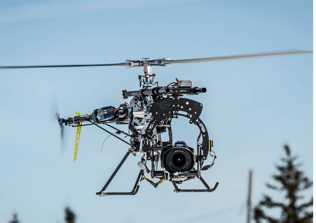 Trex 700 helicopter with Photoship1 Camera Gimbal and Canon T3i camera