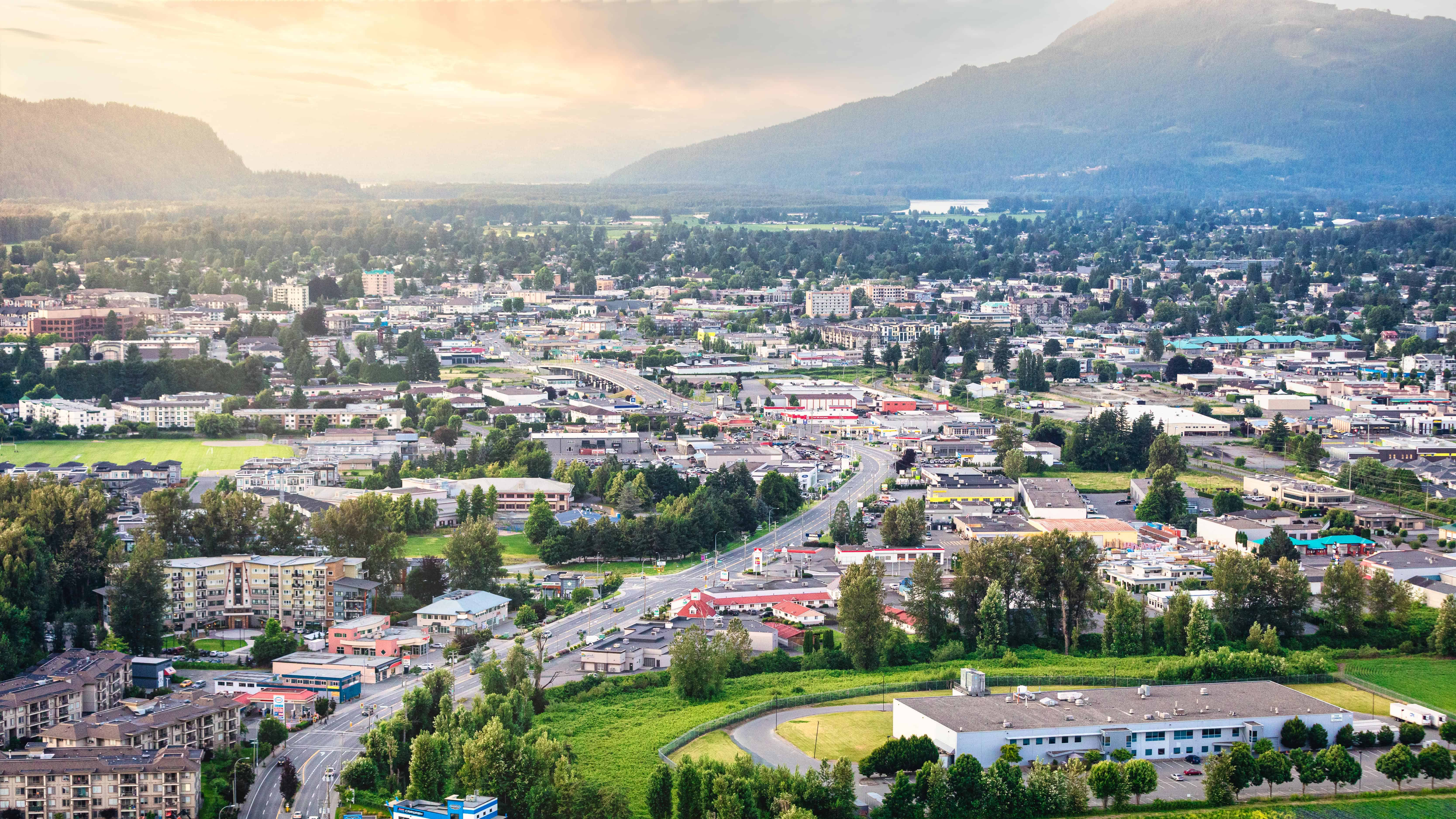 Aerial photo Chilliwack near Yale Road